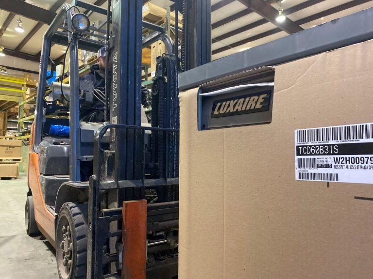 luxaire on fork lift